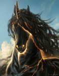 balaa cloud equine fantasy fire horn mammal outside sky unicorn   Rating: Safe  Score: 3  User: NaughtyPenguin  Date: March 08, 2014