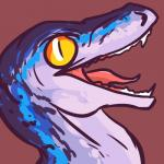 absurd_res ambiguous_gender blue_body blue_(jurassic_world) blue_markings ciphir dinosaur fangs feral headshot_portrait hi_res jurassic_park jurassic_world long_mouth looking_at_viewer markings no_sclera open_mouth portrait raptor reaction_image red_background reptile scalie sharp_teeth side_view simple_background slit_pupils snout solo spots teeth theropod tongue white_body yellow_eyesRating: SafeScore: 20User: BooruHitomiDate: January 06, 2018