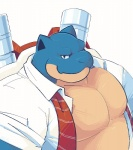 blastoise clothing greenendorf looking_at_viewer male nintendo pokémon reptile scalie shirt solo tortoise turtle video_games  Rating: Safe Score: 8 User: beartraps Date: March 23, 2015