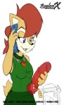 anthro aval0nx blue_eyes breasts cellphone chipmunk dildo female hair necklace phone red_hair rodent sally_acorn sega sex_toy smile sonic_(series)   Rating: Explicit  Score: 1  User: Robinebra  Date: October 31, 2012