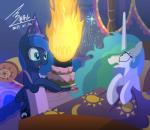 2014 antlrdkdlaos bed birthday_cake birthday_hat blue_fur bluse cake candle cutie_mark duo equine female feral fire food friendship_is_magic fur green_eyes hair horn inside mammal multicolored_hair my_little_pony open_mouth pillow pink_hair princess_celestia_(mlp) princess_luna_(mlp) purple_eyes smile standing star white_fur winged_unicorn wings  Rating: Safe Score: 24 User: CatsbyMoo Date: January 03, 2015