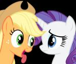 2014 absurd_res alpha_channel applejack_(mlp) blonde_hair blue_eyes duo earth_pony equine eye_contact female feral freckles friendship_is_magic fur green_eyes hair hi_res horn horse magister39 mammal my_little_pony orange_fur pony purple_hair rarity_(mlp) simple_background tongue tongue_out transparent_background unicorn white_fur  Rating: Safe Score: 15 User: Robinebra Date: June 15, 2014