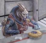 2011 alien blue_eyes claws eating food horn male mass_effect moonecho not_furry open_mouth pie sharp_teeth solo teeth tongue tongue_out turian venari_pallin video_games  Rating: Safe Score: 6 User: Mutisija Date: July 16, 2015