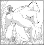 all_fours anal anal_penetration animal_genitalia anthro backsack balls big_muscles bovine cattle doggystyle duo equine from_behind furronika greyscale horse interspecies male male/male mammal monochrome muscles nude penetration penis sex   Rating: Explicit  Score: 13  User: nahub  Date: November 22, 2011
