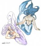 bare blue_scales breasts clothed clothing couple duo female fin fish hair half-dressed koshkio long_hair love lovers male marine mermaid merman nude purple_scales scales scalie topless  Rating: Questionable Score: 1 User: koshkio Date: June 03, 2015
