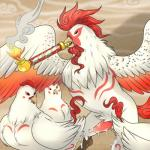 after_sex ambiguous_gender animal_genitalia avian beak bird black_eyes chicken cum cum_string deity eye_markings feathers feral fire group hi_res lonbluewolf male moegami penis phoenix pipe red_feathers smoke video_games white_feathers Ōkami  Rating: Explicit Score: 13 User: ROTHY Date: December 03, 2015
