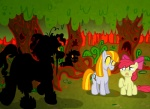 ambiguous_gender apple_bloom_(mlp) being_watched cub cutie_mark equine female feral friendship_is_magic ghost group horse living_trees mammal my_little_pony nightmare_fuel pony ruby_(mlp) scared spirit stalking story_of_the_blanks tree undead unknown_artist watched wood young zombie  Rating: Safe Score: 3 User: Sods Date: August 01, 2011