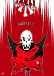 animated_skeleton bone clothing gloves hi_res kiatokid male monster not_furry papyrus scarf skeleton solo text undead underfell undertale video_games  Rating: Safe Score: 4 User: General_Oblitus Date: January 28, 2016