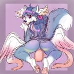 blue_fur blue_hair canine estelle female fox fur hair hybrid looking_at_viewer mammal poo-ky purple_eyes purple_hair pussy sex_toy simple_background solo vaginal white_fur wings wolf  Rating: Explicit Score: 4 User: MetalheadFurry Date: May 04, 2016