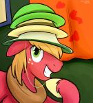 big_macintosh_(mlp) equine freckles friendship_is_magic fur hair hat horse looking_at_viewer male mammal my_little_pony orange_hair pony pose red_fur smile solo teeth thedoggygal   Rating: Safe  Score: 4  User: DeltaFlame  Date: February 25, 2015