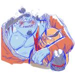 arm_on_shoulder blush boar chekera cold_sweat duo emboar fish hug humanoid jinbe mammal marine muscular nintendo not_furry obese one_piece overweight pokémon porcine simple_background sketch standing steam video_games white_backgroundRating: SafeScore: 0User: ZestDate: May 22, 2017