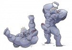 abs anal anal_fingering balls biceps big_muscles butt erection fingering humanoid_penis legs_up lying machoke maldu male muscular nintendo nipples nude on_back pecs penis pokémon spread_legs spreading standing video_games  Rating: Explicit Score: 1 User: Pokelova Date: October 05, 2015