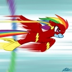 bodysuit crossover dc_comics equine female feral friendship_is_magic hair horse john_joseco mammal mask multi-colored_hair my_little_pony pony rainbow_dash_(mlp) rainbow_hair skinsuit solo sonic_rainboom speed the_flash   Rating: Safe  Score: 1  User: RenaDyne  Date: April 26, 2011