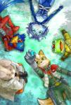 amphibian blue_hair bodysuit canine falco_lombardi fox fox_mccloud frog grass hair krystal lagomorph lying mammal nintendo peppy_hare rabbit skinsuit slippy_toad star_fox unknown_artist video_games   Rating: Safe  Score: 3  User: Cane751  Date: February 21, 2014