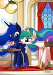 2015 cake cute duo equine female feral food friendship_is_magic horn mammal my_little_pony mysticalpha princess_celestia_(mlp) princess_luna_(mlp) sibling sisters winged_unicorn wings   Rating: Safe  Score: 12  User: Robinebra  Date: February 05, 2015