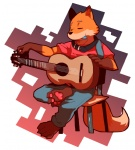 anthro canine cute fox fur gazpacho_(artist) guitar male paws pick plain_background sitting solo tuning white_background   Rating: Safe  Score: 21  User: baracudaboy  Date: January 07, 2011