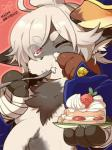1boshi anthro blush cake canine chubby cute food fox fur japanese kemono male mammal  Rating: Questionable Score: 0 User: SkokiaanFox Date: July 03, 2015""