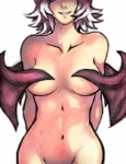 anthro antiiheld breasts covering covering_self female hair human humanized mammal navel nude rouge_the_bat smile solo sonic_(series) white_hair wings  Rating: Questionable Score: 6 User: Test-Subject_217601 Date: January 30, 2013