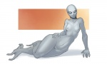 alien anthro arbuzbudesh female gray_alien hand_on_hip horizontal_pupils looking_at_viewer mouthless not_furry prehensile_feet pussy solo white_eyes wide_hips  Rating: Explicit Score: 4 User: chdgs Date: August 30, 2015