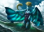 2020 anthro day detailed_background digital_media_(artwork) hibbary hybrid looking_at_viewer male mammal outside partially_submerged scalie sky smile solo water