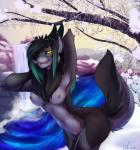 2015 anthro breasts canine demon female horn mammal nipples nude shariea smirk solo waterfall wolf yellow_eyes   Rating: Questionable  Score: 38  User: Numeroth  Date: March 02, 2015