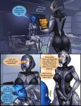 alien asari bender_bending_rodríguez big_breasts breasts clothing comic crossover dialogue edi_(mass_effect) english_text erection female futurama humanoid intersex liara_t'soni machine mass_effect not_furry penis robot shia text tight_clothing video_games  Rating: Explicit Score: 9 User: Pasiphaë Date: February 10, 2016