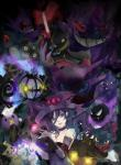 banette book chandelure creepy drifloon duskull female gastly gengar ghost goth hair halloween haunter holidays honedge human litwick mammal mimikyu misdreavus nintendo oka_ruto pokémon pokémon_(species) pumpkaboo purple_eyes purple_hair sableye shuppet spirit valeera video_games yamask yandere_simulator