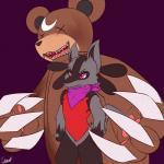 2016 bear claws fakémon hi_res lucario macro mammal nintendo open_mouth pokémon senz simple_background standing teeth video_games zipper  Rating: Safe Score: 0 User: senz Date: February 12, 2016