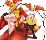 anthro anthrofied big_breasts blush braixen breasts delphox digitigrade fantasizing female hand_on_breast nintendo plain_background pokémon red_eyes shiron_(artist) sweat thought_bubble video_games white_background wide_hips  Rating: Questionable Score: 33 User: chdgs Date: June 07, 2015""