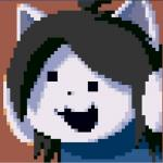 ambiguous_gender brown_background canine cat cave_story clothing crossover digital_media_(artwork) dog feline fur hair happy low_res mammal pixel_(artwork) simple_background solo tem temmie_(undertale) undertale unknown_artist video_games  Rating: Safe Score: 26 User: Kellex Date: March 26, 2016