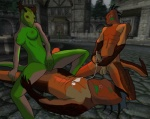 argonian balls bisexual breasts cum cum_on_chest eye_contact female group group_sex male outside penis scalie sex the_elder_scrolls the_elder_scrolls_iv:_oblivion threesome video_games   Rating: Explicit  Score: -16  User: kiplag  Date: February 28, 2012
