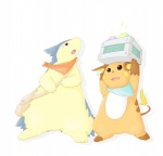 badger bag bandanna clothing cute holding kinoko mouse mustelid nintendo pixiv plain_background pokéball pokémon pokémon_mystery_dungeon raichu red_eyes rodent simple_background typhlosion video_games white_background wolverine   Rating: Safe  Score: 3  User: Luminocity  Date: February 21, 2014