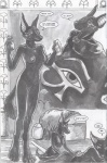 anthro anubian_jackal anubis_dark_desire canine comic egyptian female greyscale jackal male male/female mammal monochrome   Rating: Explicit  Score: 2  User: DoGgY  Date: December 10, 2009