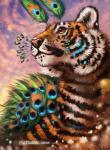 2018 amber_eyes day detailed_background digital_media_(artwork) feline feral flashw fur mammal orange_fur outside pink_nose sky solo tiger whiskers white_furRating: SafeScore: 9User: MillcoreDate: April 24, 2018