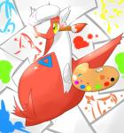 2014 artist blush brush claws dragon female hat hi_res latias legendary_pokémon nintendo paint paintbrush palette paper pokémon rathikyou solo sweat video_games wings yellow_eyes   Rating: Safe  Score: 2  User: N7  Date: March 20, 2015