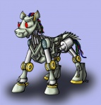 ambiguous_gender combot equine friendship_is_magic horse machine mechanical my_little_pony ponification pony red_eyes robot solo suzidragonlady tekken tekken_4 wire   Rating: Safe  Score: 1  User: Test-Subject_217601  Date: December 29, 2011