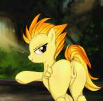 2015 absurd_res animal_genitalia animal_pussy anus butt darkstylerz equine equine_pussy feathered_wings feathers female feral friendship_is_magic grin hair half-closed_eyes hi_res mammal my_little_pony outside pegasus pussy solo spitfire_(mlp) wings wonderbolts_(mlp) yellow_eyes yellow_feathers  Rating: Explicit Score: 47 User: lemongrab Date: December 19, 2015