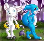 anthro balls crossgender digimon digital_media_(artwork) dripping duo erection feline forest front_view gatomon gs-fox hand_on_penis male mammal open_mouth outside penis pose precum raised_tail scalie side_view standing tapering_penis tree veemon   Rating: Explicit  Score: 0  User: Circeus  Date: January 17, 2015