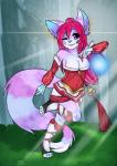 ahri anthro breasts cinnamama clothed clothing female league_of_legends magic pastell piercing solo video_games   Rating: Safe  Score: 6  User: PastelBrat  Date: April 08, 2015