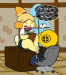 1-upclock animal_crossing canine clothed clothing cum dog duo erection feet female foot_fetish footjob fur hair human isabelle_(animal_crossing) male male/female mammal nintendo orgasm penis simple_background video_games villager  Rating: Explicit Score: 24 User: TheHappyAshibe Date: November 07, 2015