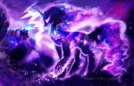 2015 animated aquagalaxy building cutie_mark duo equine female flying friendship_is_magic glowing horn house magic mammal moon my_little_pony princess_luna_(mlp) shield sparkles star tantabus winged_unicorn wings  Rating: Safe Score: 27 User: 2DUK Date: November 14, 2015