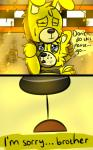 animatronic bear blue_eyes bow_tie comic crying duo eyes_closed five_nights_at_freddy's five_nights_at_freddy's_3 golden_freddy_(fnaf) lagomorph machine male mammal mechanical oil rabbit riznben_(artist) robot springtrap_(fnaf) tears video_games  Rating: Safe Score: 0 User: Vallizo Date: June 29, 2015""