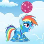 2011 ball bodysuit cloud costume equine female feral friendship_is_magic hair mammal multi-colored_hair my_little_pony pegasus rainbow_dash_(mlp) rainbow_hair skinsuit solo wings yikomega   Rating: Safe  Score: 7  User: Ohnine  Date: November 09, 2011