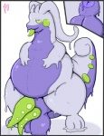 anus balls belly big_belly chubby cum dragon erection feral gastropod goo goodra green_eyes looking_at_viewer male mammal multi_penis nintendo nude obese overweight penis pfh pokémon scalie simple_background slime slug solo tongue video_games  Rating: Explicit Score: 1 User: Hawkbird Date: July 23, 2015