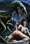 bestiality blue_(jurassic_world) butt claire_dearing clothing dinosaur female feral hair human interspecies jurassic_park jurassic_world mammal panties raptor red_hair reptile scalie trollfacelizardme underwear  Rating: Questionable Score: 11 User: JennaLovesKate Date: August 29, 2015