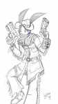 ambiguous_gender anthro clothing cowboy fallout gun hat jacket lagomorph lapinbeau leather mammal rabbit ranged_weapon scarf solo weapon western   Rating: Safe  Score: 0  User: lapinbeau  Date: April 29, 2013