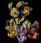animatronic avian bear bird bonnie_(fnaf) canine chica_(fnaf) chicken eye_patch eyeless eyewear female five_nights_at_freddy's five_nights_at_freddy's_3 fox foxy_(fnaf) freddy_(fnaf) glowing glowing_eyes golden_freddy_(fnaf) group lagomorph machine male mammal mechanical open_mouth rabbit robot springtrap_(fnaf) vengefulspirits_(artist) video_games   Rating: Safe  Score: 2  User: Kario-xi  Date: May 22, 2015