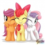 2014 apple_bloom_(mlp) bow cub digital_media_(artwork) earth_pony equine eyes_closed female feral friendship_is_magic fur green_eyes group hair hair_bow horn horse looking_at_viewer mammal my_little_pony mysticalpha one_eye_closed orange_fur pegasus plain_background pony purple_eyes purple_hair red_hair scootaloo_(mlp) smile sweetie_belle_(mlp) teeth two_tone_hair unicorn white_background white_fur wings wink yellow_fur young   Rating: Safe  Score: 18  User: Robinebra  Date: June 09, 2014