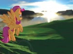 2012 aged_up bay cgi cliff cloud cub cutie_mark digital_media_(artwork) equine female feral flying friendship_is_magic fur grass hair hill hooves landscape lens_flare mammal mane my_little_pony orange_body orange_fur outside pegasus purple_eyes purple_hair scootaloo_(mlp) sea sky solo sunrise supuhstar vector water wings young  Rating: Safe Score: 8 User: Supuhstar Date: June 30, 2013