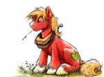 2014 big_macintosh_(mlp) blonde_hair cutie_mark earth_pony equine feral freckles friendship_is_magic fur green_eyes hair horse kenket male mammal my_little_pony pony red_fur solo sophiecabra   Rating: Safe  Score: 12  User: Somepony  Date: August 01, 2014